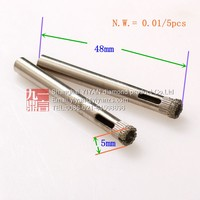 diamond coated tool drill bit hole saw glass tile marble ceramic 5mm