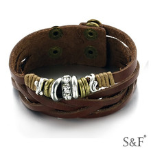 gb2014770 noble turkish jewelry leather 2014 bracelet