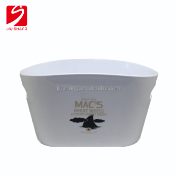 Cheap oval plastic wine ice bucket with custom logo