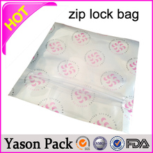 Yason necklace plastic bag shinning blue ziplock tear notches pouches stand-up foil ziplock bag for animals food