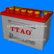 Dry charged lead acid car battery 12V90AH 30H90R