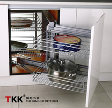 Kitchen Storage, Magic Corner, soft-stop Pull Out Basket