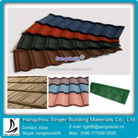 Good quality Stone chip coated roofing material high quality ceramic roof tile