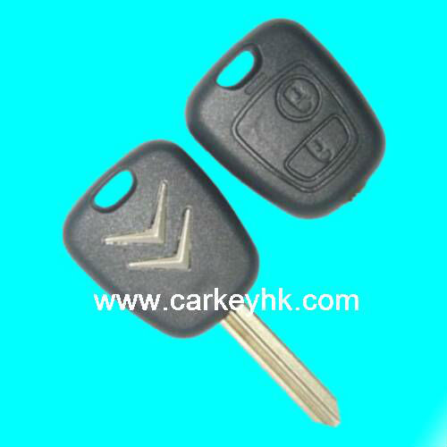 Citroen 2 buttons remote key ID46 chip 433Mhz car key