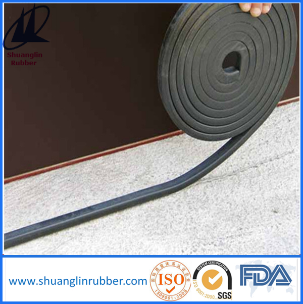 Swelling waterstop rubber materials for concrete joint