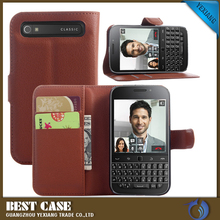 magnetic wallet leather case cover for blackberry q20 classic back cover housing with card holder