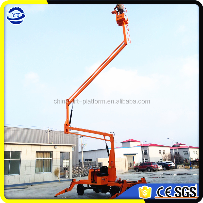 CE mobile hydraulic folding boom lift/crank arm aerial work platform