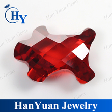 Faceted cubic zirconia gems red fancy cut irregular synthetic diamond