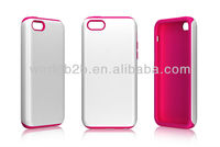 Hot Selling 2 in 1 Rubber PC Hard Case & Silicon Case Cover for iPhone 5C mini Lite