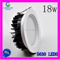 new design IP33 18w 1400lm smd5630 led light downlight made in china
