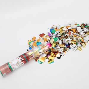 30Cm Custom Wedding Heart Multicolored Paper Confetti Party Popper