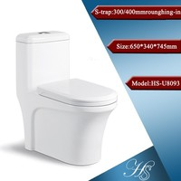 HS-U8093 japanese toilet/ western toilet/ washdown one piece toilet