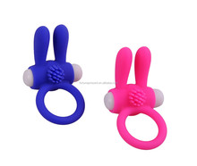 Adorable rabbit shape vibrating cock ring, sex toys for male delay ejaculation