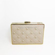 2015 hotsale Pu hard Shell Ladies Box Clutches