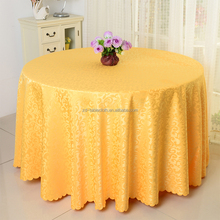 Wedding decoration 132'' round polyester jacquard table cloth