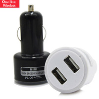 Mobile Phones Accessories Excellent Quality Charger , Mini Bullet Dual USB 2-Port Car Charger Adaptor for iPhone For iPod