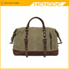 Vintage military canvas men travel bags carry on luggage bag