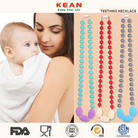 Newest Baby Silicone Teething Large Fashion Emerald Beads Necklace