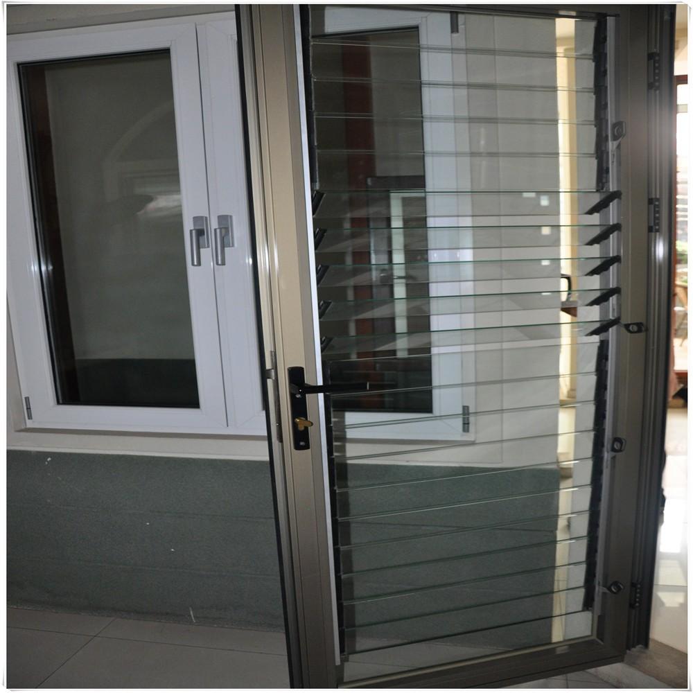 Aluminum Louvered Doors : Inexpensive aluminum glass louver door buy