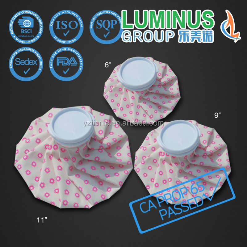 good quality small round suns printing cooler bag cloth therapy ice bag