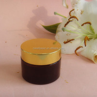 50ml amber glass cosmetic jar with Screw Cap Type and Aluminium Metal Type Aluminium Screw Lid