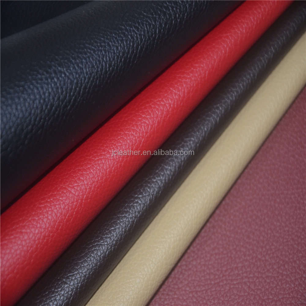 2017 pvc leather with lichee pattern surface for shoes