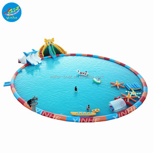 Giant Elephant Inflatable Slide with Swimming pool Inflatable Water Park