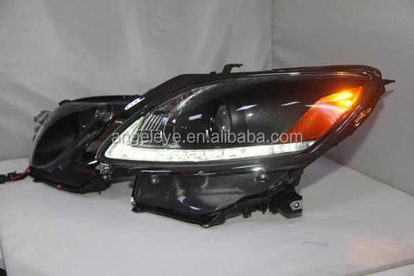 2006-2011 Year For Lexus GS300 GS350 GS430 GS450 LED Head Lamp Front Light with Projector Lens Black Housing SN