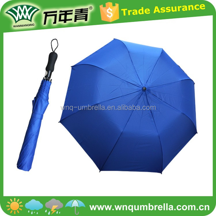 "27"" auto open windproof fashionable 2 fold umbrella"