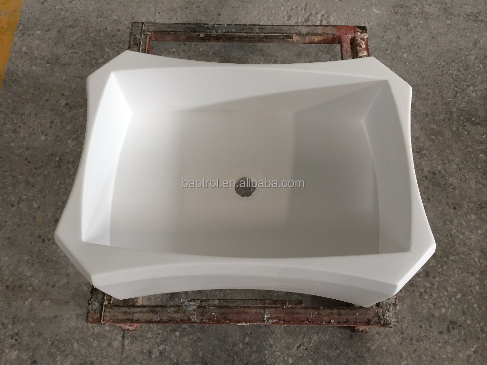 Seamless joint solid surface river stone resin sink cup lavabo wash