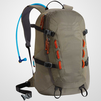 The ultra-light Hydration Pack With moisture-wicking foam pods and asymmetrical zipper