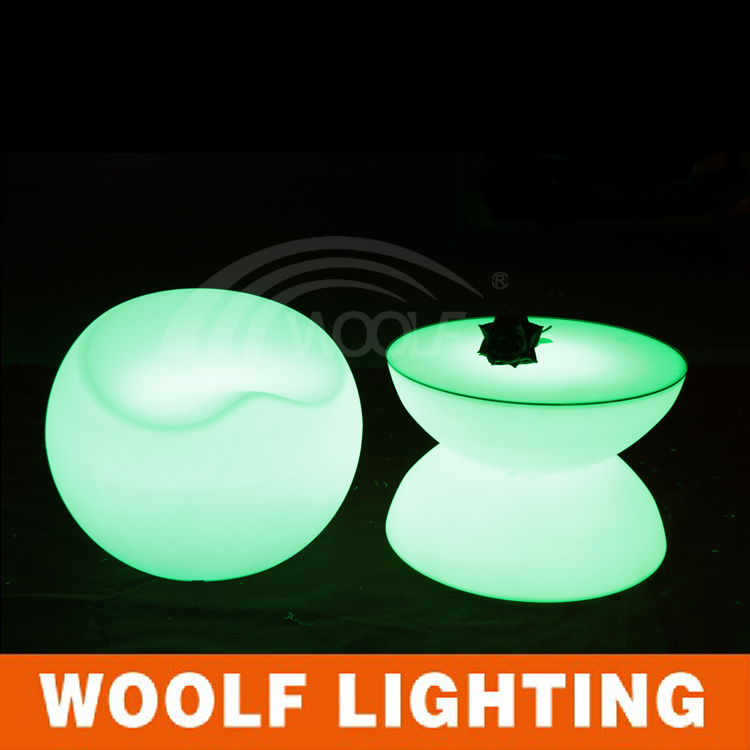 new style glowing led round table design