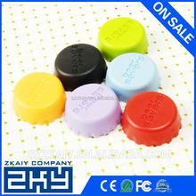 Custom logo universal silicone bottle caps