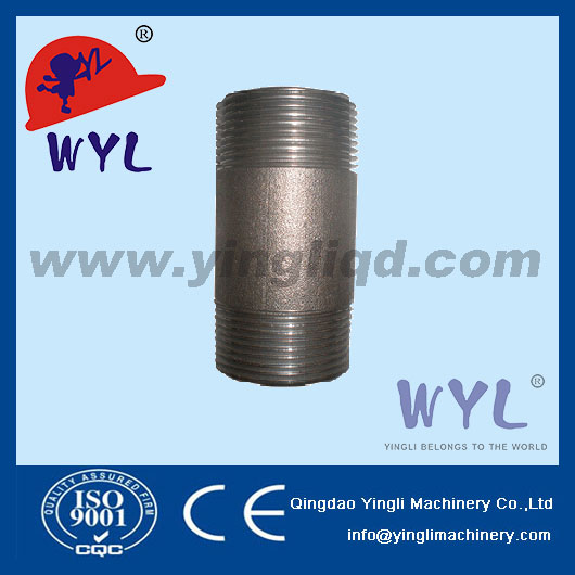 "1/8"" NPT Forged fittings CS TH thread round nipple"