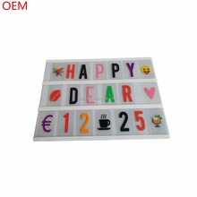 2017 hot sale LED cinema light box battery powered free combination DIY letter cinematic Lightbox
