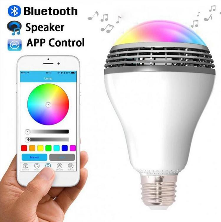 5w RGB Led,smart led light bulb bluetooth speaker with remote control,led bulb with bluetooth speaker