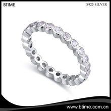 Trendy fashion beautiful shining sterling silver jewelry cz diamond s925 rings for women