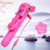 Gift promotion 2017 mini portable cable take pole wired selfie stick