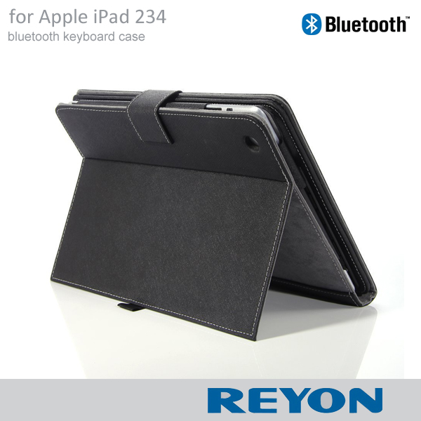 Bluetooth 3.0 ABS Keyboard Folio PU Leather Case Cover Magnetic Smart Stand for iPad 2 3 4