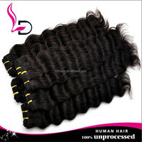 Fast shipping wholesale 100% unprocessed virgin jazz wave human extension hair product woman deep wave