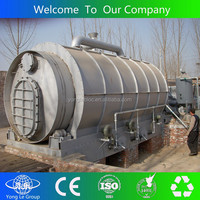 yongle brand best performance waste plastic pyrolysis machine for making diesel
