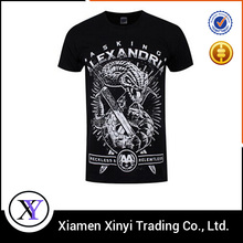 Fashion promotional printed new york wholesale mens black t shirts