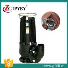 non-clog pump 2hp submersible water pump with chopping disc