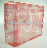 Plastic Printed PP PVC PET Packaging Box with CLEAR Tray for cosmetic