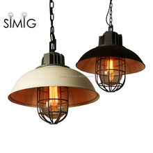 American loft retro industrial vintage wind pendant light iron antique for restaurant cafe decor
