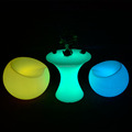 remote control IP68 LED decoration furniture led bar chair apple shape lighting chair