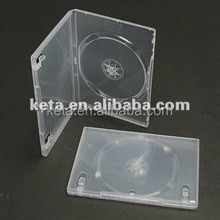 Standard 14mm Super Transparent Single Disk Plastic DVD Case