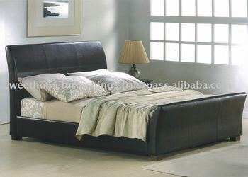 Furniture Bedroom Mylonit Faux Leather PU Bed / Bedroom beds