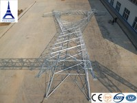 Galvanized electric pylon utility steel transmission poles