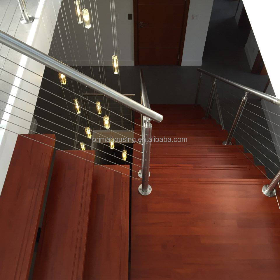 Cable railing stainless steel staircase design part of for Stair designer online